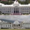 Le Président Jovenel Moïse pose la première pierre de la construction du nouveau Palais national